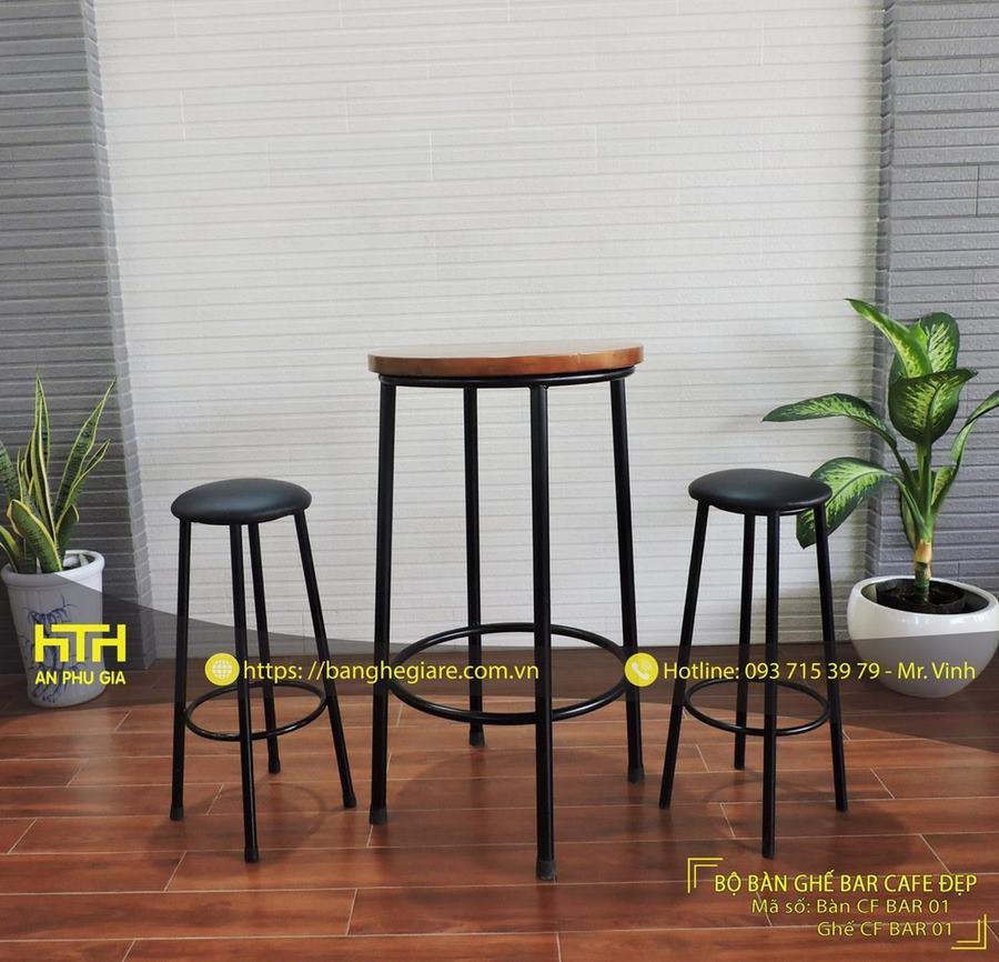 bàn ghế bar cho quán cà phê